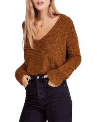 Free People - Popcorn Knit Sweater - Lyst