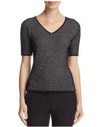 Armani - Grid-knit Sweater - Lyst