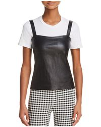 Theory - Perfect Leather Camisole Top - Lyst