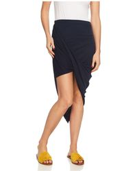 1.STATE - Ruched Asymmetric Skirt - Lyst