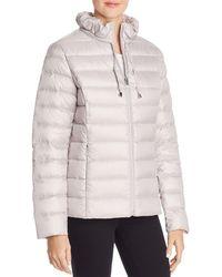Via Spiga - Packable Ruffled Collar Down Coat - Lyst