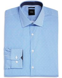 W.r.k. - Dot Stripe Slim Fit Dress Shirt - Lyst