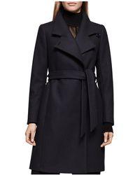 Reiss - Harri Belted Spread-collar Coat - Lyst