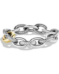 David Yurman - Sterling Silver 18k Gold Chain Link Bracelet - Lyst