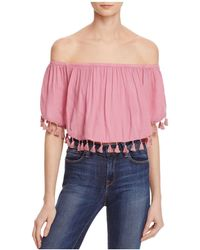 On The Road - Lima Off-the-shoulder Tassel Top - Lyst