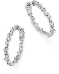 Bloomingdale's - Diamond Inside Out Hoop Earrings In 14k White Gold, 1.75 Ct. T.w. - Lyst