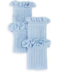 Rebecca Minkoff - Ruffled Fingerless Gloves - Lyst
