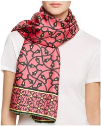 Kinloch - Décor Scroll Silk Scarf - Lyst