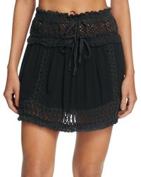 92a6adf6937aa Surf Gypsy - Crochet Fringe Mini Skirt Swim Cover-up - Lyst
