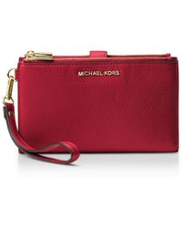 MICHAEL Michael Kors - Adele Double Zip Leather Iphone 7 Plus Wristlet - Lyst