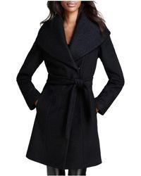 Calvin Klein - Coat - Belted Wool Wrap - Lyst