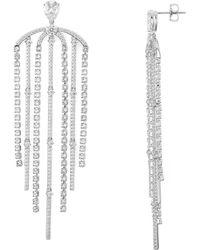 Nadri - Gloria Statement Fringe Earrings - Lyst