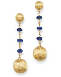 Marco Bicego - 18k Yellow Gold Africa Precious Sapphire Drop Earrings - Lyst