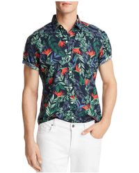 Bloomingdale's - Tropical Print Short Sleeve Button-down Shirt - Lyst