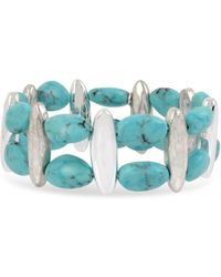 Robert Lee Morris - Robert Lee Morris Turquoise And Silver Stretch Bracelet - Lyst