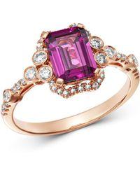 Bloomingdale's - Rhodolite & Diamond Ring In 14k Rose Gold - Lyst