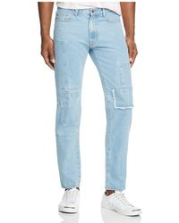 Ovadia And Sons - Patchwork New Tapered Fit Jeans In Light Indigo - Lyst