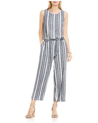 Two By Vince Camuto - Belted Stripe Jumpsuit - Lyst