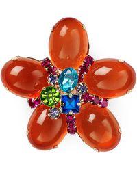Aqua | Jackie Flower Pin | Lyst