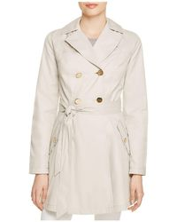 Laundry by Shelli Segal - Hooded Fit-and-flare Trench Coat - Lyst