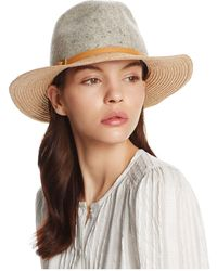 Bettina - Felt Fedora With Leather Trim - Lyst