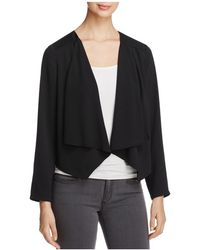 Avec | Draped Open Front Jacket | Lyst