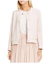 Vince Camuto - Snap Front Bomber Jacket - Lyst