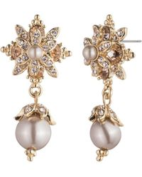 Marchesa - Flower Drop Earrings - Lyst