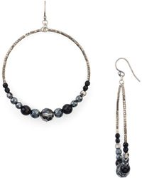 Chan Luu | Beaded Hoop Earrings | Lyst