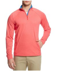 Vineyard Vines - Nine Mile Performance Heathered Half Zip Sweatshirt - Lyst