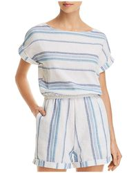 Splendid - Tapestry Stripe Romper Swim Cover-up - Lyst