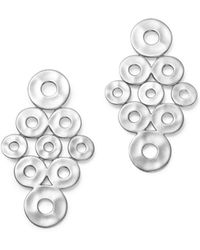 Ippolita - Sterling Silver Sensotm Cascading Disc Earrings - Lyst