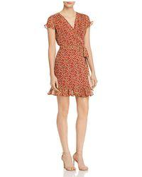 Rebecca Minkoff - Ana Floral-print Wrap Dress - Lyst