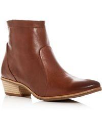 Paul Green - Women's Shaw Leather Western Low Heel Booties - Lyst