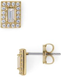 Nadri - Aura Rectangle Stud Earrings - Lyst