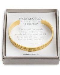 "Dogeared - Maya Angelou Legacy Collection ""i've Learned..."" Bracelet - Lyst"