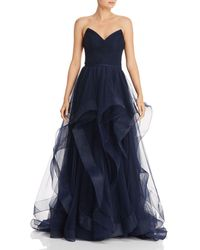 Basix Black Label - Strapless Ball Gown - Lyst