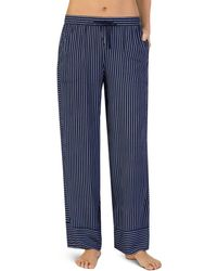 Donna Karan - Drawstring Striped Sleep Pants - Lyst