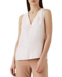 Reiss - Jorja Sleeveless Silk Top - Lyst