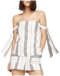 BCBGeneration - Striped Off-the-shoulder Top - Lyst