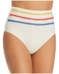 Dolce Vita - Kokomo Embroidered High Waist Bikini Bottom - Lyst