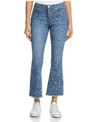 MICHAEL Michael Kors - Printed Jeans In True Navy/light Chambray - Lyst