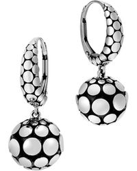 John Hardy | Sterling Silver Dot Drop Earrings | Lyst