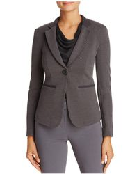 Armani | Ribbed Single-button Blazer | Lyst