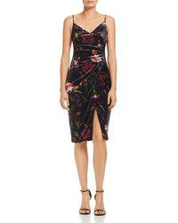 Black Halo - Bowery Floral Velour Sheath Dress - Lyst