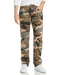 True Religion - Ricky Flap Straight Fit Jeans In Camo - Lyst