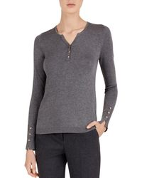 Gerard Darel - Claire Button-detail Fitted Sweater - Lyst