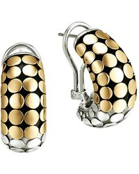John Hardy | Dot 18k Gold And Sterling Silver Buddha Belly Earrings | Lyst