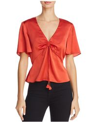 Finders Keepers - Mercury Tie-front Top - Lyst