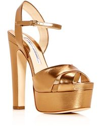 Brian Atwood - Women's Madison Leather High-heel Platform Sandals - Lyst
